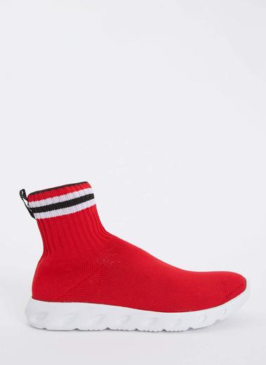 DeFacto Kalın Tabanlı Çorap Sneaker Kırmızı